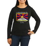 Free Tibet Women's Long Sleeve Dark T-Shirt