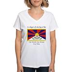 Free Tibet Women's V-Neck T-Shirt