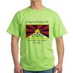 Free Tibet Green T-Shirt