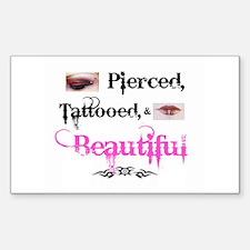 Pierced etc Rectangle Sticker 10 pk)