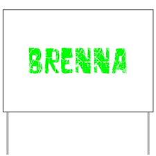 Brenna Faded (Green) Yard Sign