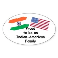 Indian-American Family Oval Decal