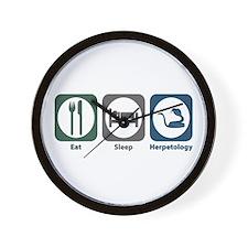 Eat Sleep Herpetology Wall Clock