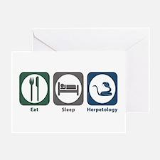 Eat Sleep Herpetology Greeting Card