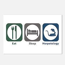 Eat Sleep Herpetology Postcards (Package of 8)
