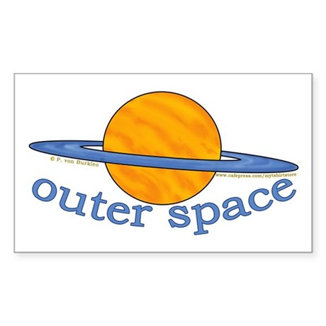 Cute Planet Picture Rectangle Sticker