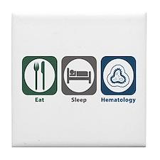 Eat Sleep Hematology Tile Coaster