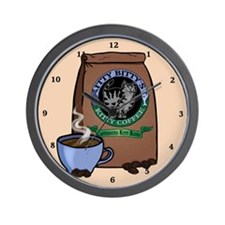 Caffeinated Kitty Blend Wall Clock