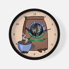 Caffeinated Kitty Blend Wall Clock