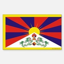 Tibetan Flag Rectangle Decal
