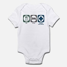 Eat Sleep Health and Safety Infant Bodysuit