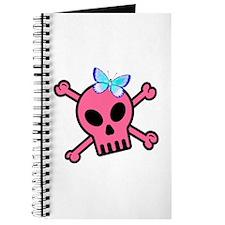 Pink Butterfly Catcher Skull Journal