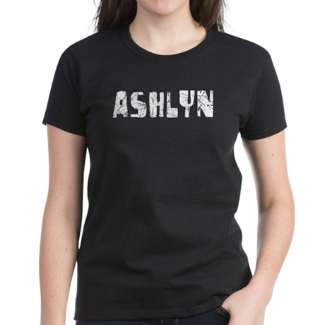 Ashlyn Faded (Silver) Women's Dark T-Shirt