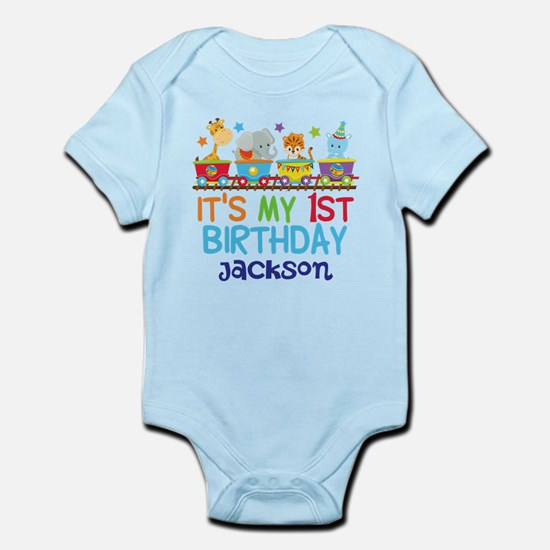 Circus Animal 1st Birthday Infant Bodysuit