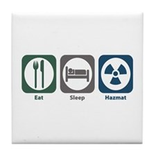 Eat Sleep Hazmat Tile Coaster