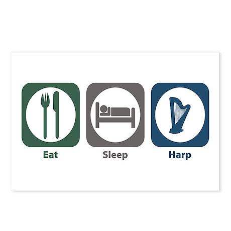 Eat Sleep Harp Postcards (Package of 8)