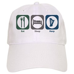 Eat Sleep Harp Baseball Cap