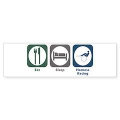 Eat Sleep Harness Racing Bumper Sticker (10 pk)