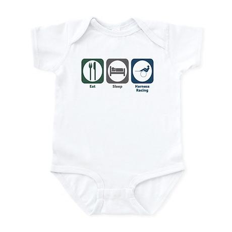 Eat Sleep Harness Racing Infant Bodysuit