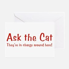 Ask The Cat Greeting Card