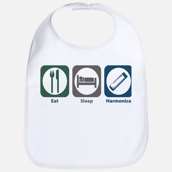 Eat Sleep Harmonica Bib