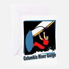 Columbia River Gorge Windsurfer Greeting Card