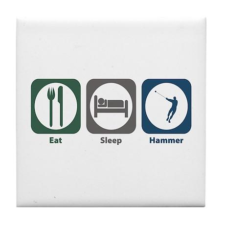 Eat Sleep Hammer Tile Coaster