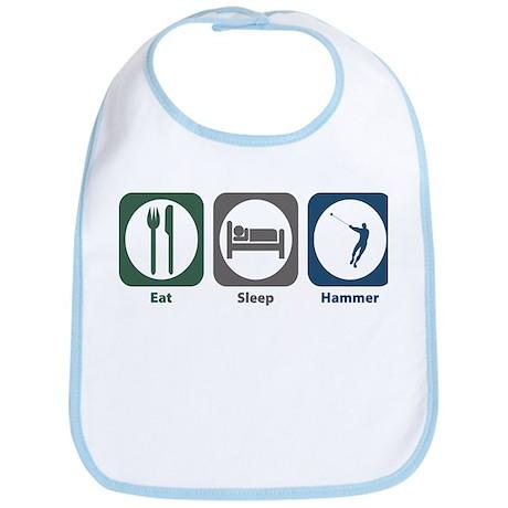 Eat Sleep Hammer Bib