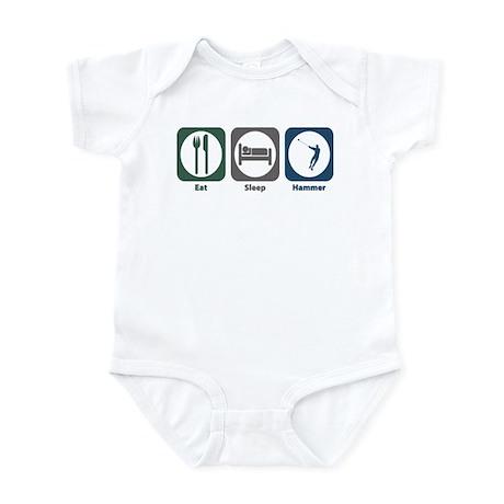 Eat Sleep Hammer Infant Bodysuit