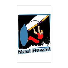 Maui Windsurfing Rectangle Decal