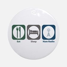 Eat Sleep Ham Radio Ornament (Round)