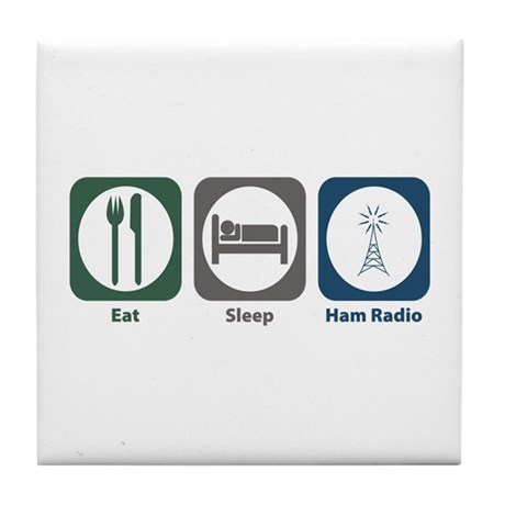Eat Sleep Ham Radio Tile Coaster