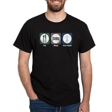 Eat Sleep Ham Radio Dark T-Shirt