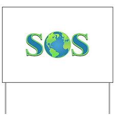 SOS earth Yard Sign