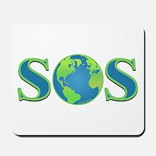 SOS earth Mousepad