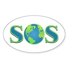 SOS earth Oval Decal