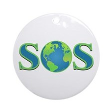 SOS earth Ornament (Round)