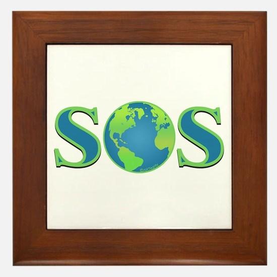 SOS earth Framed Tile