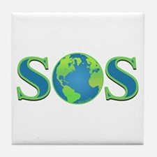 SOS earth Tile Coaster