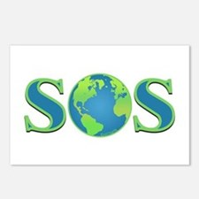SOS earth Postcards (Package of 8)