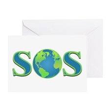 SOS earth Greeting Card
