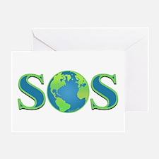 SOS earth Greeting Card