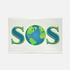 SOS earth Rectangle Magnet