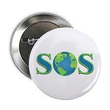 """SOS earth 2.25"""" Button"""
