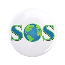"""SOS earth 3.5"""" Button (100 pack)"""