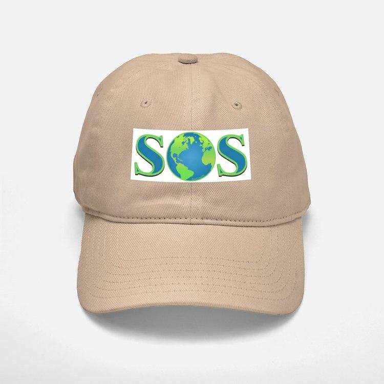 SOS earth Baseball Baseball Cap