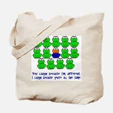 Being Different FROGS 3 Tote Bag