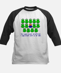 Being Different FROGS 3 Kids Baseball Jersey