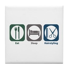 Eat Sleep Hairstyling Tile Coaster