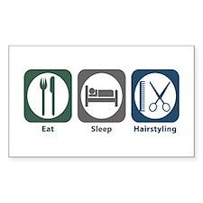 Eat Sleep Hairstyling Rectangle Decal